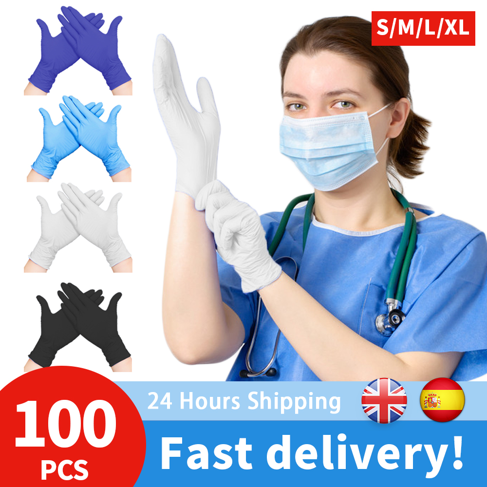 100PCS Disposable Nitrile Gloves XL Size Latex Gloves For Household Cleaning Laboratory Work Nail Art Tattoo Anti-Static Gloves