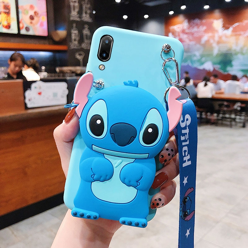 Cartoon Coin Bags Soft Silicon Phone Case For Xiaomi Redmi 9 8A 7A 6A 5A 4A 8 7 5 Plus 6 Pro S2 Go 4X Cover With Lanyard