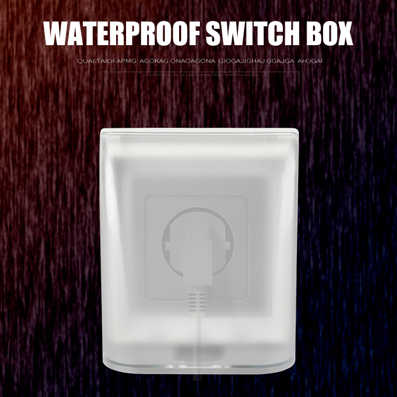 Universal Type 86 Wall Socket Waterproof Box Panel Switch Splash Protection Cover Household SP99