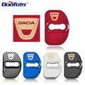 4 шт. крышка дверного замка автомобиля для Dacia Duster Logan MCV Sandero Stepway Lodgy DD2 углеродное волокно Стайлинг наклейки аксессуары