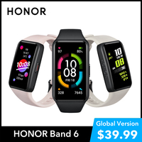 HONOR Band 6 Global Version SpO2 Heart Rate Monitor Watch Smartwatch Blood Oxygen Fitness Smart Bracelet Waterproof Wristbands 1