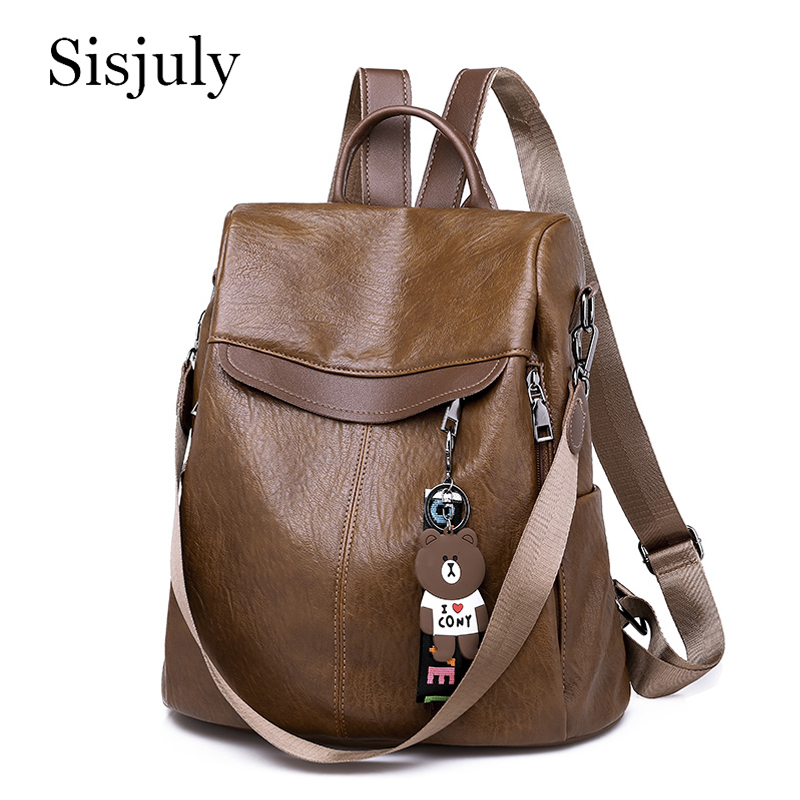 New Anti Theft Women Backpacks 2019 Multifunction Female Backpack for Teenager Girls Schoolbag Travel Leather Sac a Dos mochila image