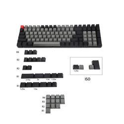 Лазерная клавиатура Dolch Eteched, английская, итальянская, немецкая, испанская, ISO, русская, OEM профиль, толстая клавиатура PBT для MX механической кл...