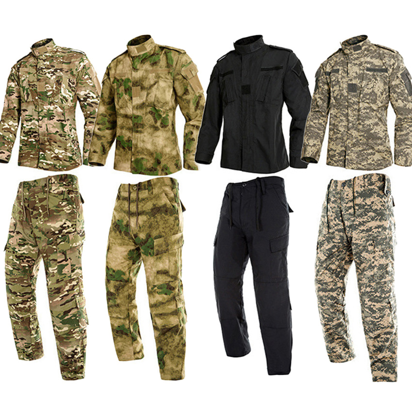 Adult Man Hunting Military Uniform Desert Training Camouflage Tactical Coat Jacket Trousers Set For Male Special US Army Suit