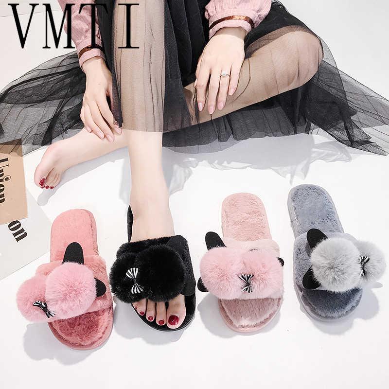VMTI/2019 г.; тапочки для женщин, студенток; милые домашние тапочки из хлопка; модная одежда; шлепанцы на меху; милые плюшевые Тапочки