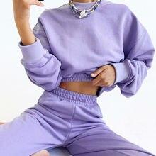 Женский Осенний пурпурный свитер новинка 2020 однотонный топ