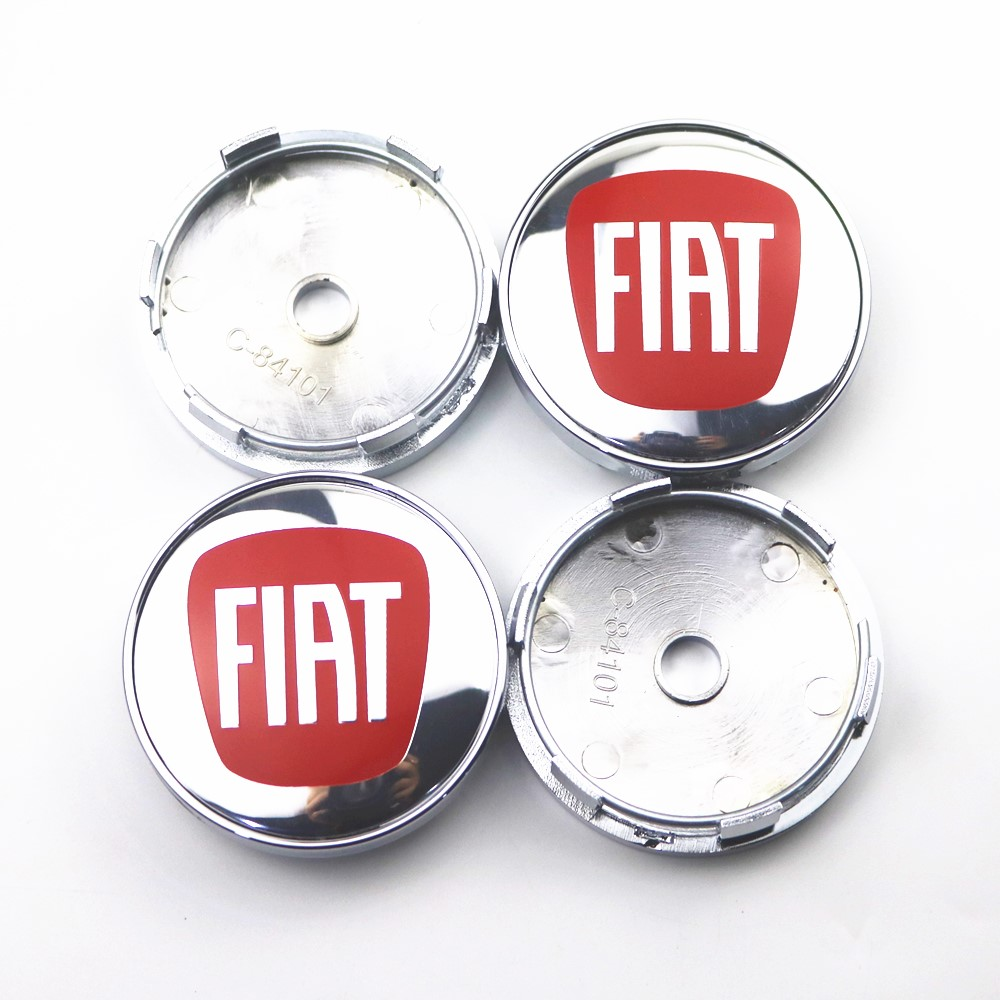 4pcs 60mm Wheel Center Hub Caps Car Emblem Badge Logo Wheel Center Cap For Fiat 500 Punto Bravo Stilo Car Styling