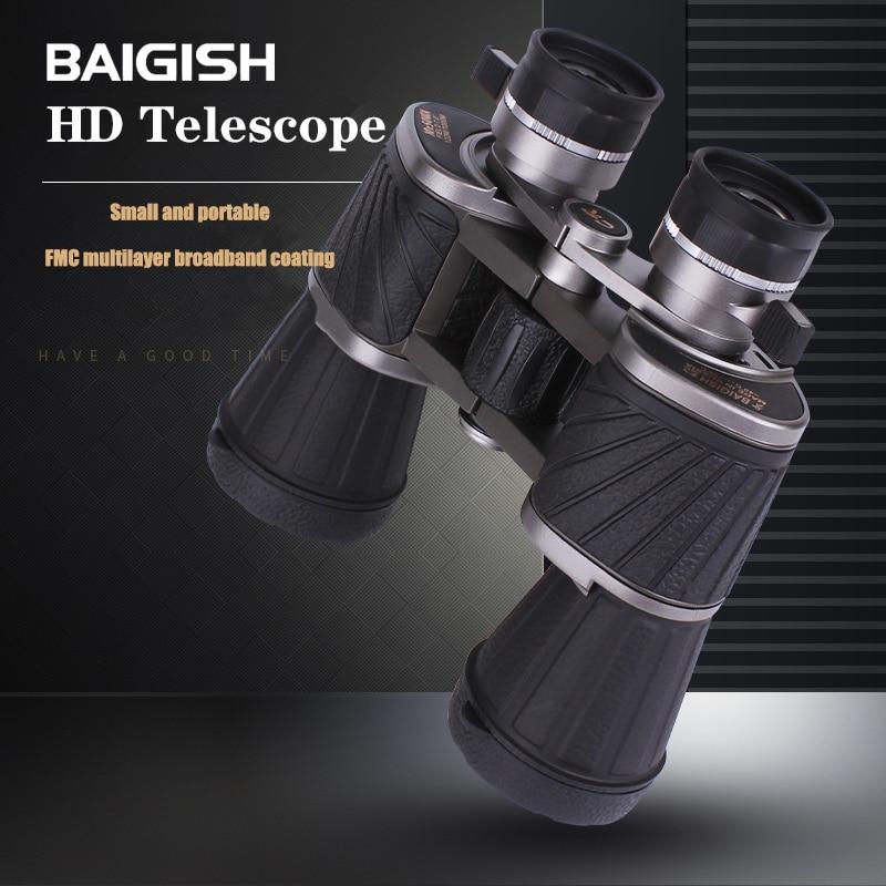 BAIGISH 10X50 Powerful Binoculars Professional HD Large Eyepiece Binoculars Russian Military lll Night Vision Hunting Telescope
