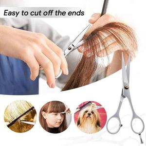 5.5/6 inch Cutting Thinning Styling Tool Hair Scissors Stainless Steel Salon Hairdressing Shears Regular Flat Teeth Blades