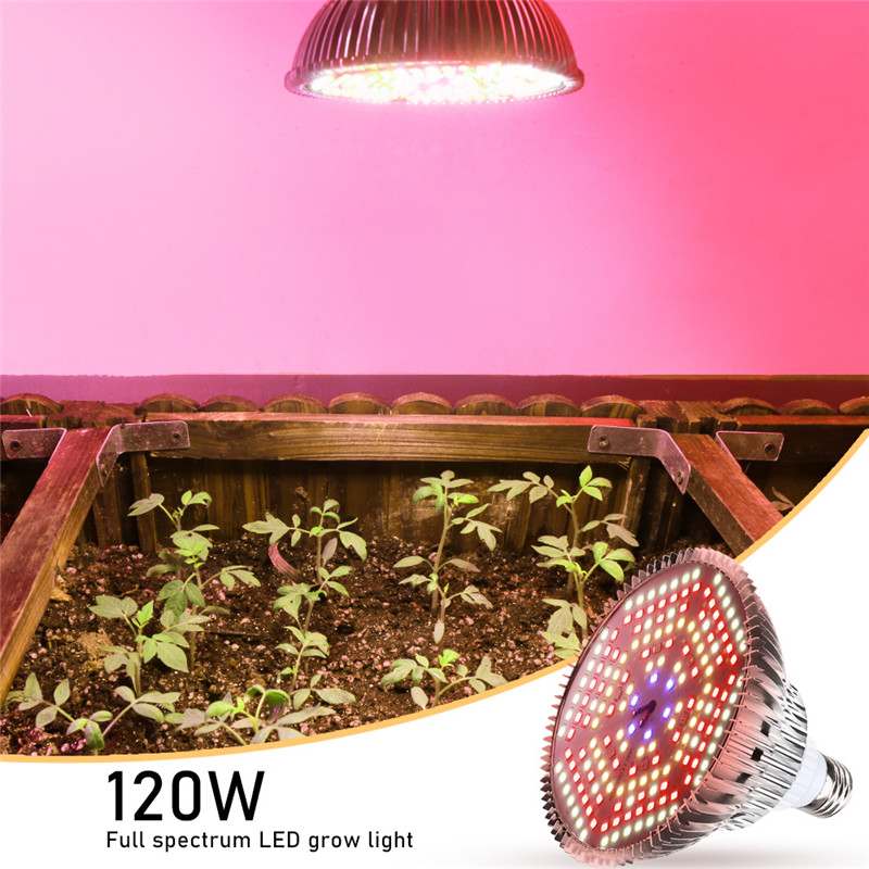 LED Grow Light Full Spectrum 120W E27 IR LED Growing Bulb Fitolamp For Indoor Hydroponics Tent Flowers Plants LED Growth Lamp