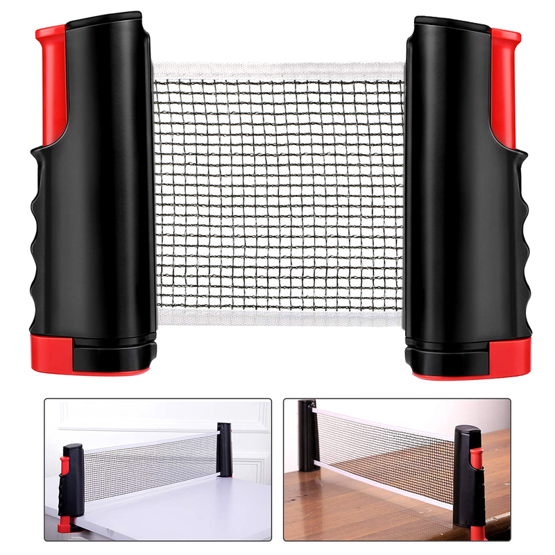 Table Tennis Net Portable Anywhere Retractable Ping Pong Post Net Rack For Any Table Family Entertainment Workout