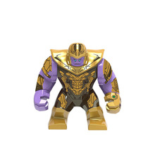Avengers 4 Thanos Lizard Iron Man Action Figure Black Panther Hulk  Glove Blocks Compatible Marvel Toy single sale 41 cm iron man series movie thanos resin action figure kids adults collectible toys garage kit toy movie character