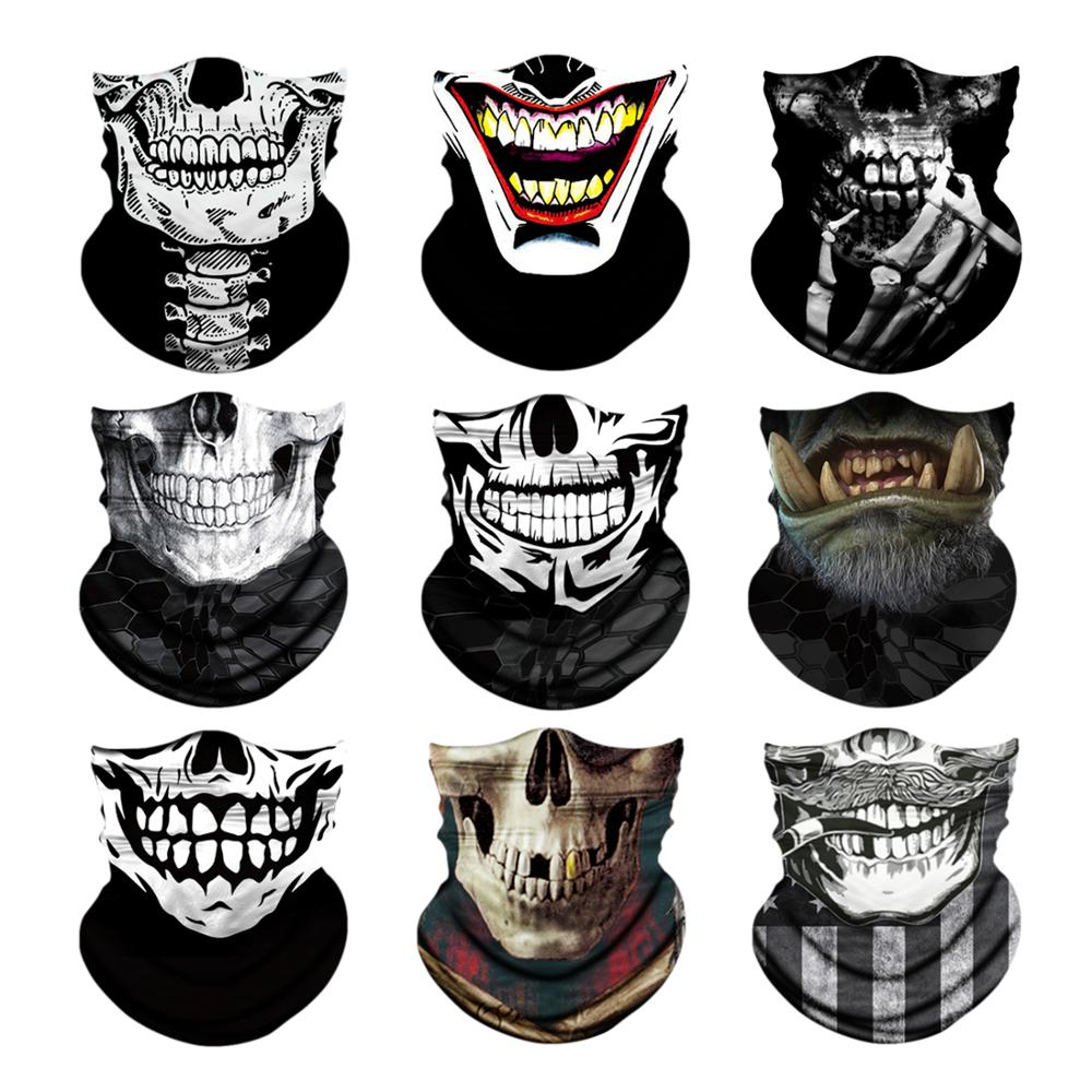Jovivi Skull Serie Outdoor Windproof Headband Seamless Bandanas Headwear Neck Scarf Men Tubular Wrap Motorcycle Cycling Ski Mask