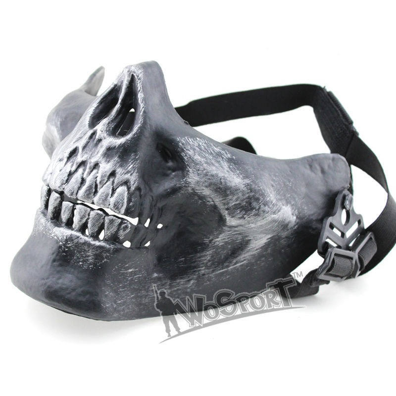 Wosport V3 Skull Airsoft Half Face Mask Motorcycle Protection And Hunting And TPU Skateboard Mask