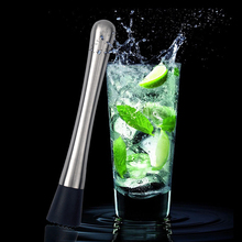 Stainless Steel Crushed Ice Muddler Cocktail Bartender Fruit Masher Pestles DIY Drink Mixer Bar Tools Durable ice pick crusher crushed with wooden handle cocktail ice crusher metal pick bar chisel household kitchen bar tool