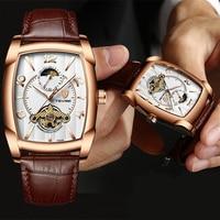 Tevise 남자 시계 톱 브랜드 럭셔리 로즈 골드 남자 시계 남자 비즈니스 자동 기계식 시계 남자 방수 시계 relogio