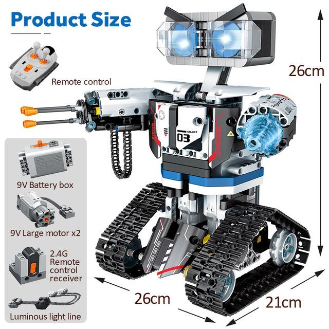 2020 NEW SEMBO Technic RC Robot Building Blocks Creator City Remote Control Intelligent Robot Car Weapon Brick Toys For Children