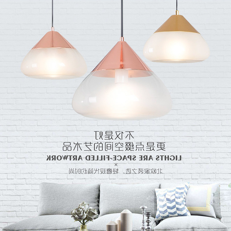 Glass Pendant Lights For Living Room Bedroom Restaurant Hanging Modern Nordic Indoor Deco Loft E27 Pendant Lamp Bed Hanging Lamp