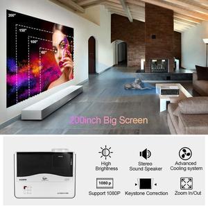 Image 3 - Caiwei LCD العارض 1080P أندرويد عارض فيديو 1G RAM 8G ROM السينما المنزلية Proyector للترفيه المنزلي/التعليم