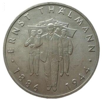 Alemania del Este 10 marcas conmemorativas monedas 1986 ErnstTalman 100th Birth colección Original de monedas 1 Uds