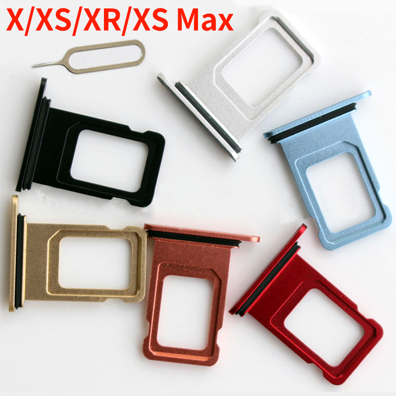 For Iphone X XR XS Max SIM Card Holder Slot Tray Container Adapter Eject Tools Mobile Phone Accessories