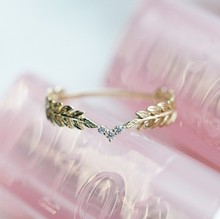 minimalist cute micro-inlaid zircon ring SF
