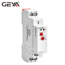 Free Shipping GEYA GRT8-D 12V Time Delay Relay Delay off without Supply Voltage AC/DC12V-240V 1 Module Time Relay 12V Timer