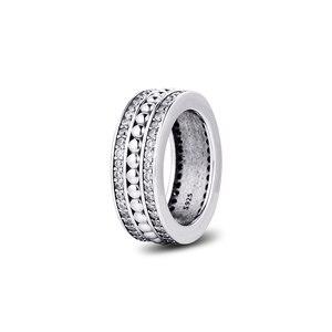 Image 1 - אמיתי 925 כסף סטרלינג טבעות לנצח חתימה טבעת אירוסין תכשיטי הצהרת חתונה לנשים מתנה anillos סיטונאי