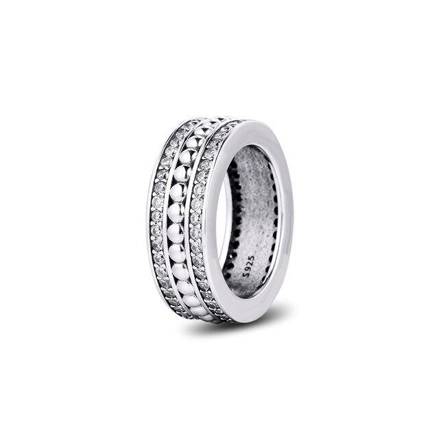 אמיתי 925 כסף סטרלינג טבעות לנצח חתימה טבעת אירוסין תכשיטי הצהרת חתונה לנשים מתנה anillos סיטונאי