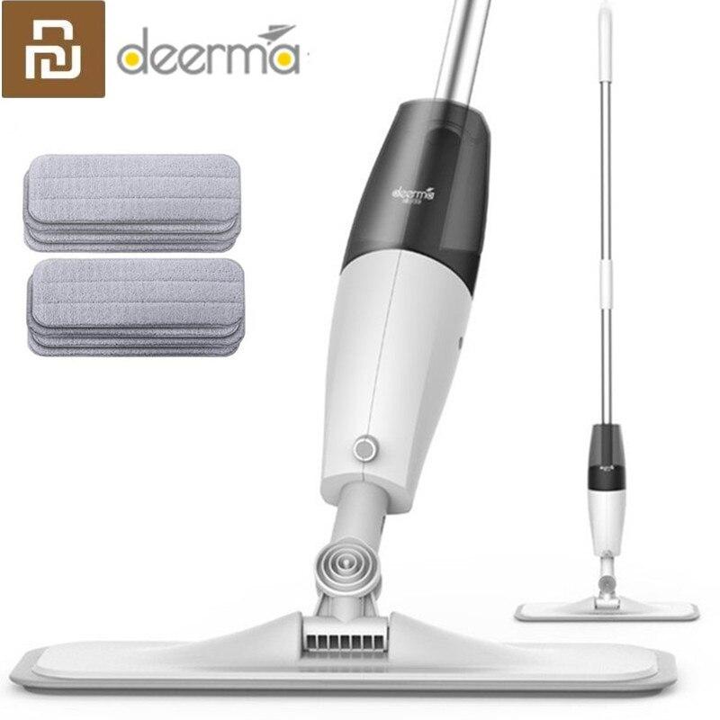 Original Deerma Water Spraying Sweeper Floor Cleaner Carbon Fiber Dust Mops 360 Rotating Rod Tank Waxing Mop for xiaomi mijia(China)