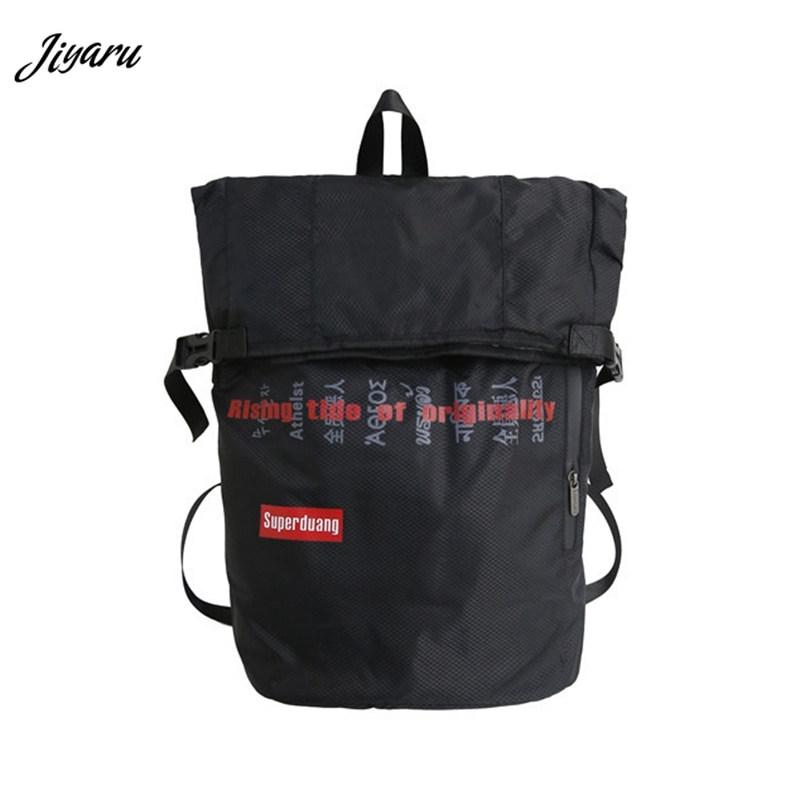 Couple Backpacks School-Bags Teenager Multifunction Fashion Hip-Hop Letter Boys