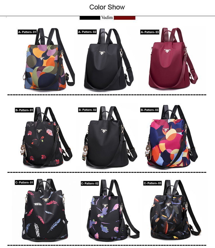H99211dbcd6c743af8e4500c8219ae3088 - Vadim New Fashion Women Backpacks  Waterproof Oxford Backpack Female Anti Theft Bagpacks School Bags for Girls Mochila Mujer
