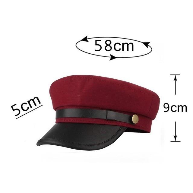 Yacht Captain Sailor Hat Newsboy Cabbie Baker Boy Peaked Beret Cap Adjustable for Men Women Driver Chauffeur British Style 8