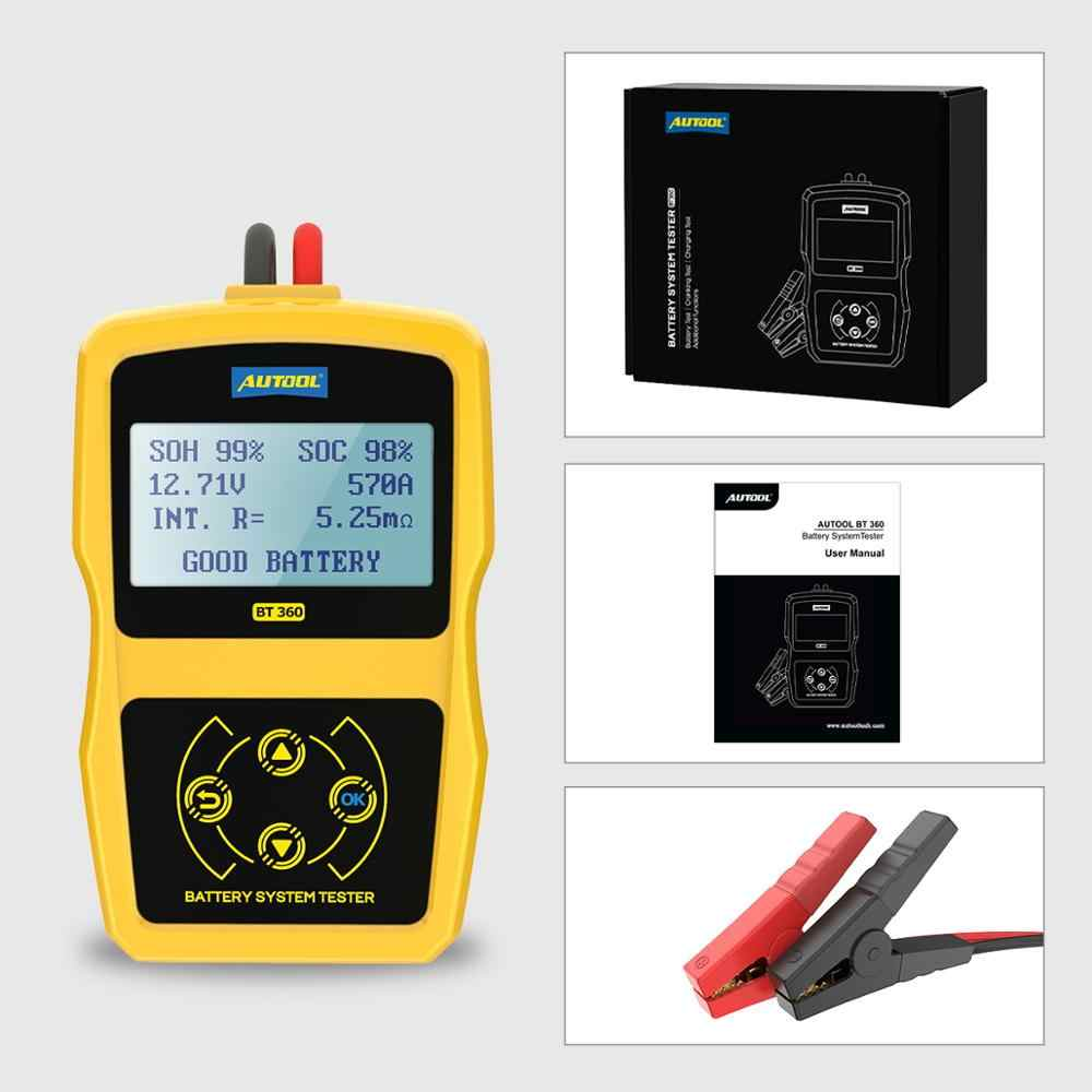 Battery System Tester Durable Battery System Tester with Multi-Language 12 V BT-360 Automotive Load for Digital Analyzer Cell Test