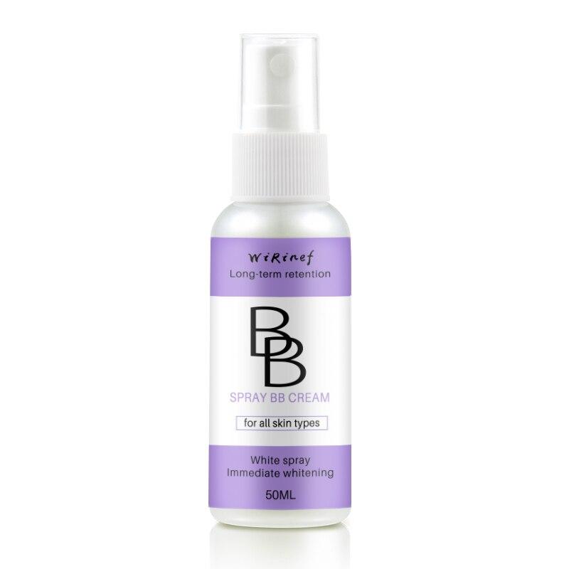 Профессиональный спрей BB Крем Осветляющий консилер, база под макияж длительное Отбеливание лица основа косметический инструмент - Цвет: 50ML Spray bb cream