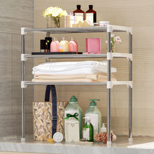 3 Tier Microwave Shelf Oven Rack Kitchen Spice Organizer Storage Shelve Bathroom Bath Product Holder 58*28*6cm(China)