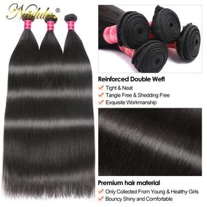 Image 5 - Nadula волосы 28 дюймов 30 дюймов прямые волосы, пряди 3 пряди/4 пряди, Реми прямые человеческие волосы, бразильские прямые волосы
