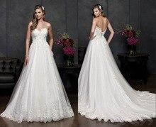 vestido de noiva Wedding Dresses 2019 vestido de festa longo Sweetheart Wedding Gown Backless robe de mariee lace Appliques цена и фото