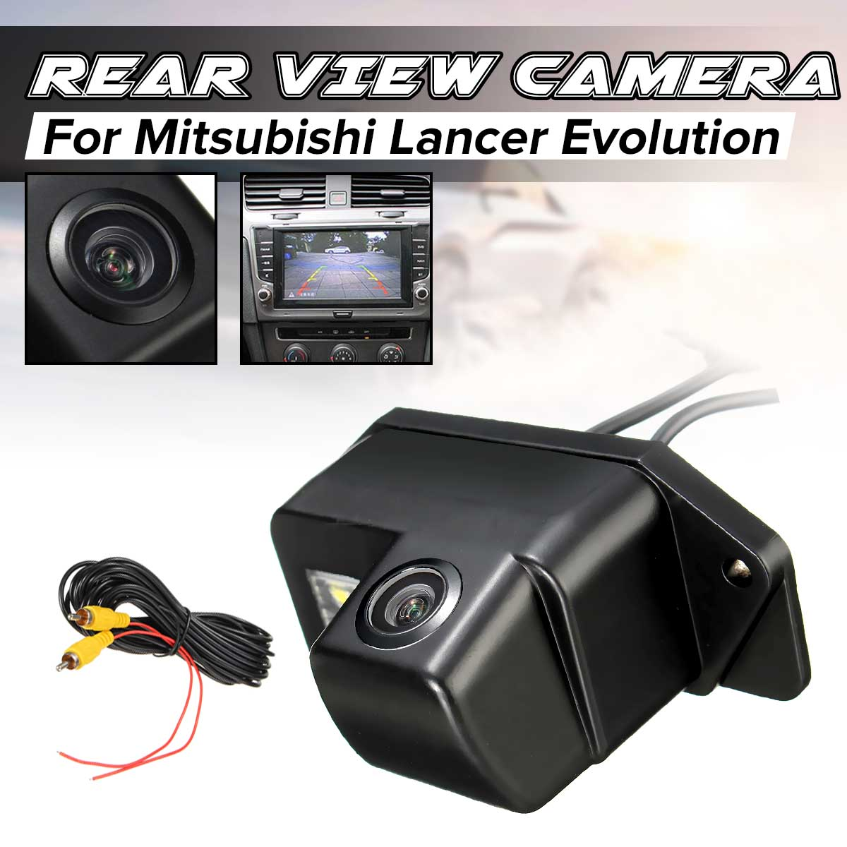CCD HD Auto Car Reverse Rear View Camera Backup Parking Night Vision Waterproof For Mitsubishi Lancer Evolution 2007-2014
