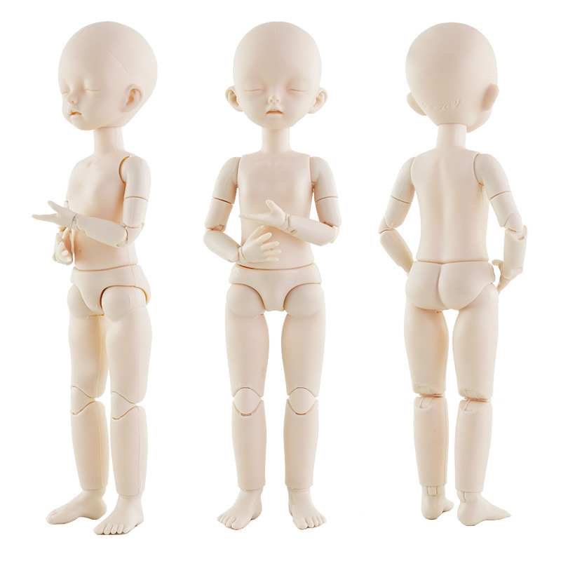 New 28cm 22 Movable Jointed OB Dolls Toys Cute Bareheaded Baby Naked Nude Body DIY Make Up Bald Head Doll Toy For Girls Gifts