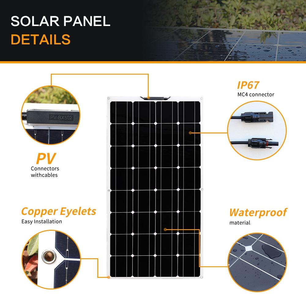 300w painel solar monocristalino fora do carregador