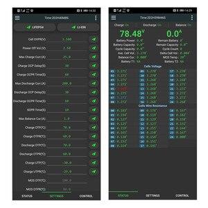 Image 5 - Smart BMS 14S ~ 24S 150A z 1A aktywnym balansem tablica zabezpieczająca baterię telefon z Bluetooth APP Lifepo4 li ion LTO 16S 20S