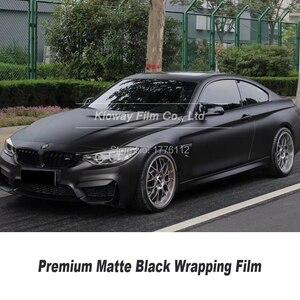 Image 1 - Высококачественная матовая Черная Виниловая пленка, черная оберточная пленка для автомобиля, матовая Черная Виниловая пленка с низким начальным клеем, гарантия качества