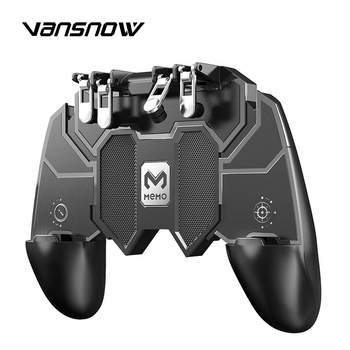 AK66 R11 PUBG Mobile Controller Turnover Button Gamepad for IOS Android Six 6 Finger Operating Peripherals Pubg Trigger