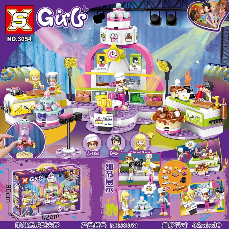 369 шт., 2020, новинка, серия Friends, серия The Big Bake Show, совместимые с Lepining 41393, строительные блоки для друзей, кирпичные игрушки, рождественские подарки