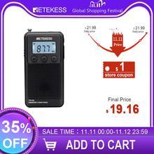 Retekess TR103 Draagbare Pocket Mini Radio Fm/Mw/Kortegolf Radio Digitale Tuning 9/10Khz MP3 Muziek speler Oplaadbare Batterij