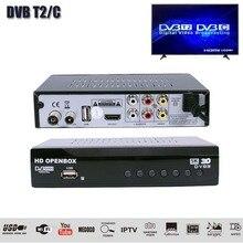HDOPENBOX DVB T2/C/Set Top Box H.264 TV terrestre recibidor compatible con Wifi/IVI/IPTV/PVR/EPG DVB T2 sintonizador de TV