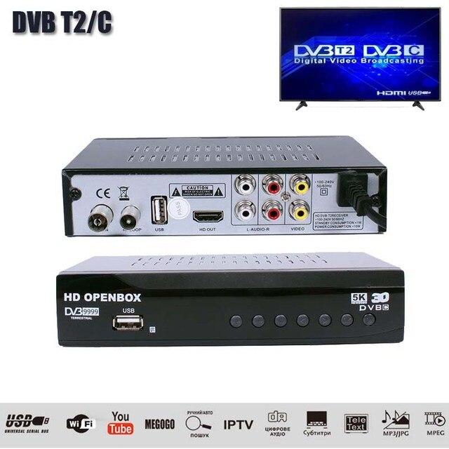 HDOPENBOX DVB T2/ג H.264 יבשתית מקלט תמיכת Wifi/IVI/IPTV/PVR/EPG DVB T2 מקלט טלוויזיה