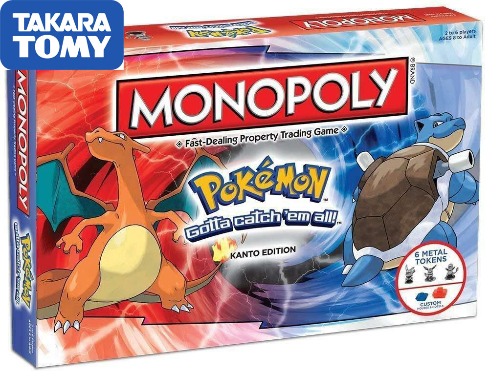 TAKARA TOMY Pokemon Monopoly Pokemon All English Board Game Board Card Game Family Gathering Christmas Present