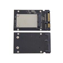 XT-XINTE Adapter Card mSATA Mini SSD to 2.5 SATA SATA3 Drive 22Pin Converter with Protective Case for Windows Vista Linux Mac